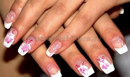 фото рисунки нарощенные ногти