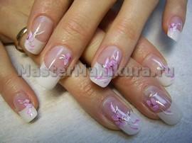 Светло розовый дизайн с рисунком