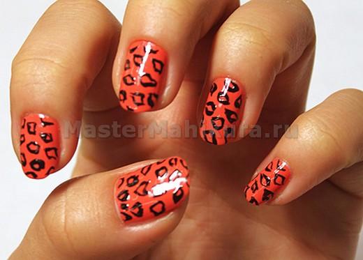 Красный леопардовый дизайн