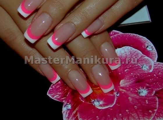 Гламурные розово-белые полоски