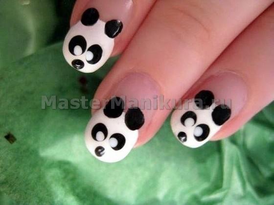 Легкий рисунок панда