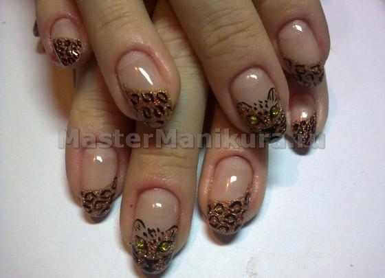 Легкий и красивый леопардовый дизайн