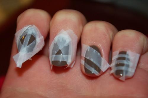 Как наклеить скотч на ногти