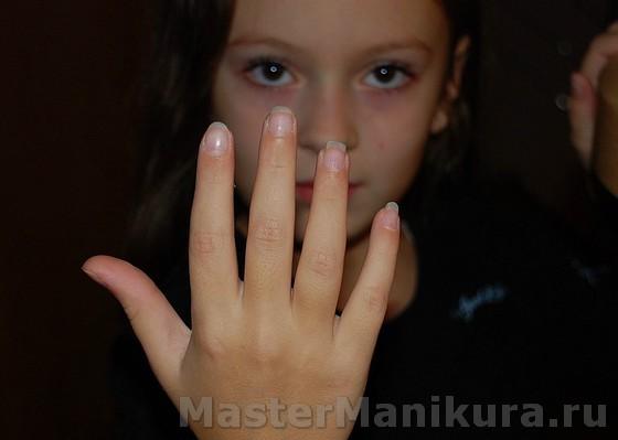 Детские ногти с рисунком