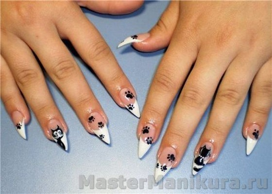 Рисунки на ногтях акриловыми красками ...: mastermanikura.ru/dizajn/risunki-akrilovymi-kraskami.html