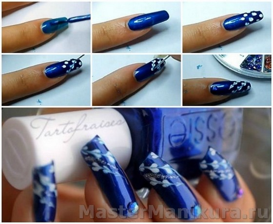 Как сделать на ногтях красивый узор лаком на