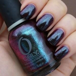 Интересный темный дизайн лака от ORLY