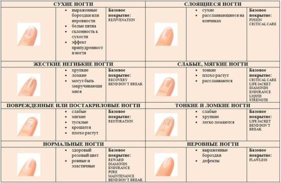 Формы ногтей для маникюра схемы