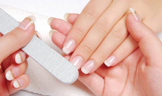 Подпиливание ногтей