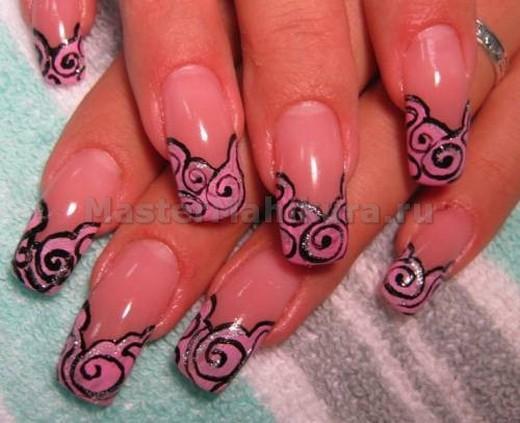 Розовое абстрактное покрытие