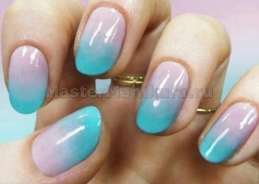 Дымка на ногтях очень красиво