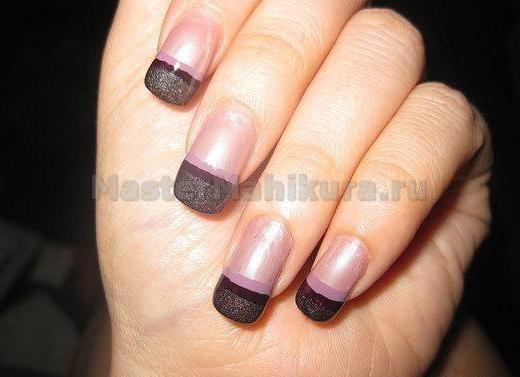 Прямые линии на кончике ногтя