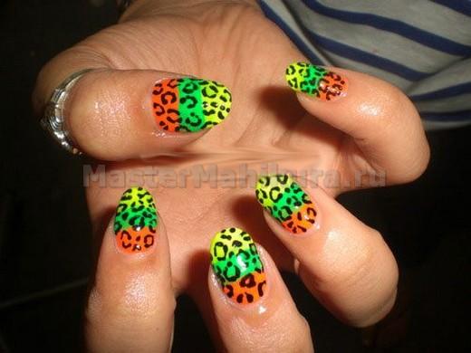 Оригинальный разноцветный леопард