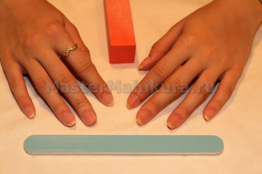 Подготовка ногтей перед нанесением
