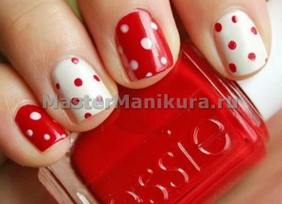 Красно-белый с точками