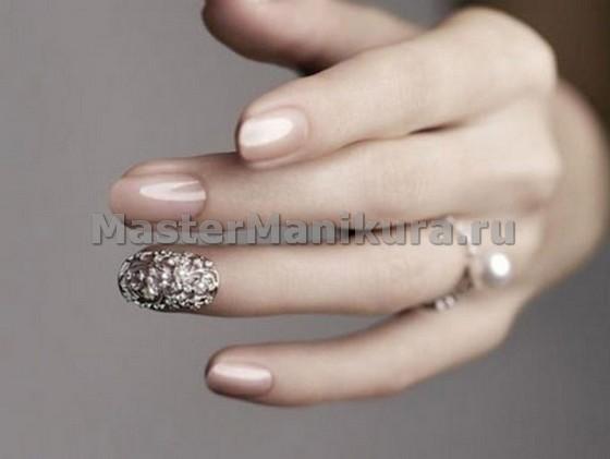 Выделение серым цветом безымянного пальца на свадьбу