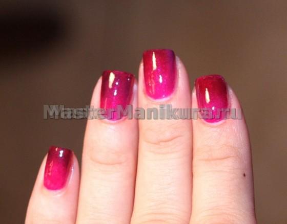 Маникюр розового цвета своими руками