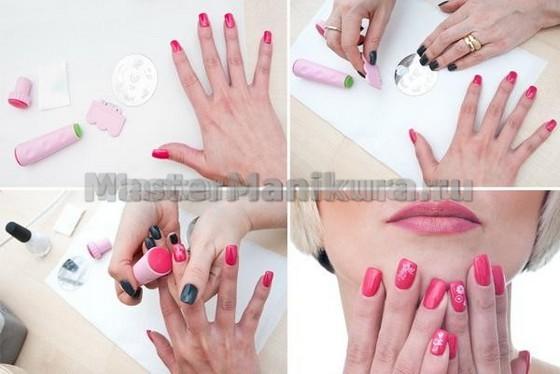 Простой и красивый маникюр для ногтей дома