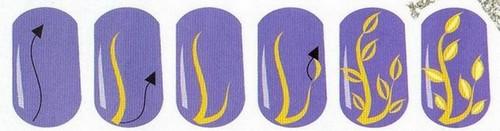 Рисование веточки акриловыми красками