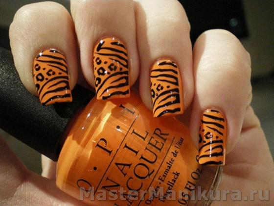 Оранжевый рисунок акриловыми красками