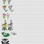 Тренировочный лист для рисования цветов
