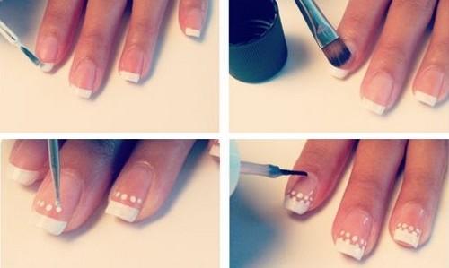 Как нанести нежный дизайн на ногти