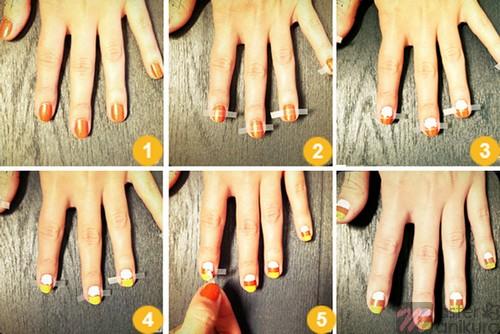 Как просто нанести полоски на ногти