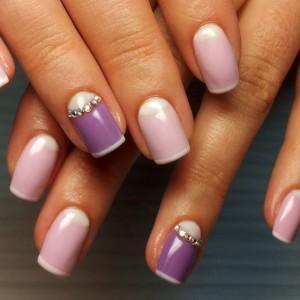 Дизайн ногтей с фиолетовым гель-лаком