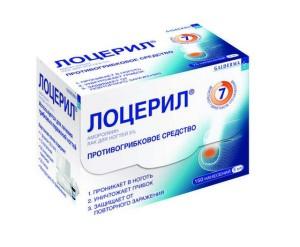 Противогрибковый препарат Лоцерил