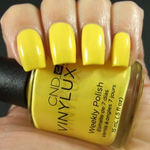 Желтый маникюр с Vinylux
