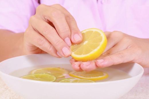 Маска для ногтей с лимоном