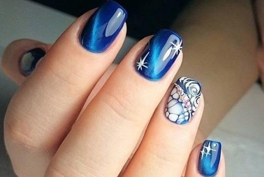 Создание мозаики на ногтях